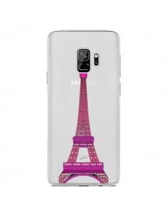 Coque Samsung S9 Tour Eiffel Rose Paris Transparente - Asano Yamazaki