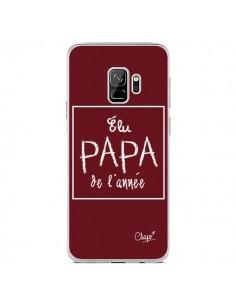 Coque Samsung S9 Elu Papa de l'Année Rouge Bordeaux - Chapo