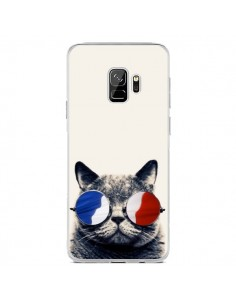 Coque Samsung S9 Chat à lunettes françaises - Gusto NYC