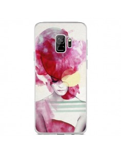 Coque Samsung S9 Bright Pink Portrait Femme - Jenny Liz Rome