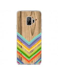 Coque Samsung S9 Tribal Azteque Bois Wood - Jonathan Perez