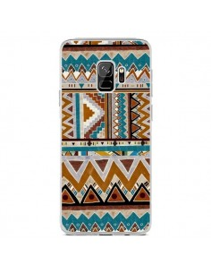 Coque Samsung S9 Azteque Vert Marron - Kris Tate
