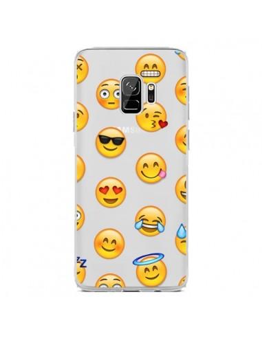 Coque Samsung S9 Smiley Emoticone Emoji Transparente - Laetitia