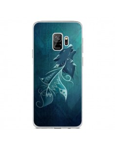 Coque Samsung S9 Wolfeather Plume Loup - LouJah