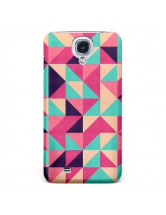 Coque Azteque Triangle Rose Vert pour Galaxy S4 - Eleaxart