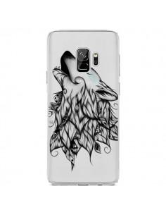 Coque Samsung S9 Loup Hurlant Transparente - LouJah
