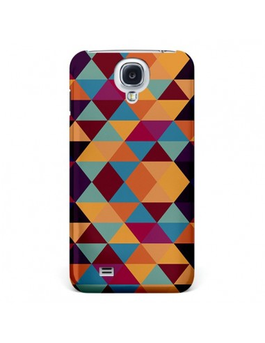 Coque Azteque Triangle Orange pour Galaxy S4 - Eleaxart