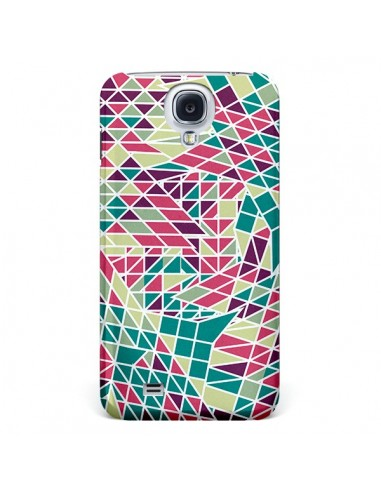 Coque Azteque Triangles Vert Violet pour Galaxy S4 - Eleaxart