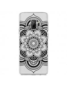 Coque Samsung S9 Mandala Noir Azteque Transparente - Nico