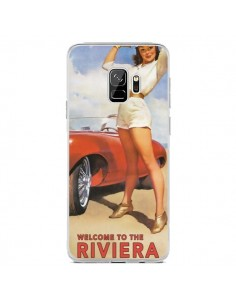 Coque Samsung S9 Welcome to the Riviera Vintage Pin Up - Nico