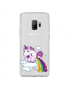 Coque Samsung S9 Licorne Caca Arc en Ciel Transparente - Nico