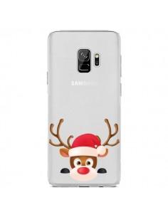 Coque Samsung S9 Renne de Noël transparente - Nico