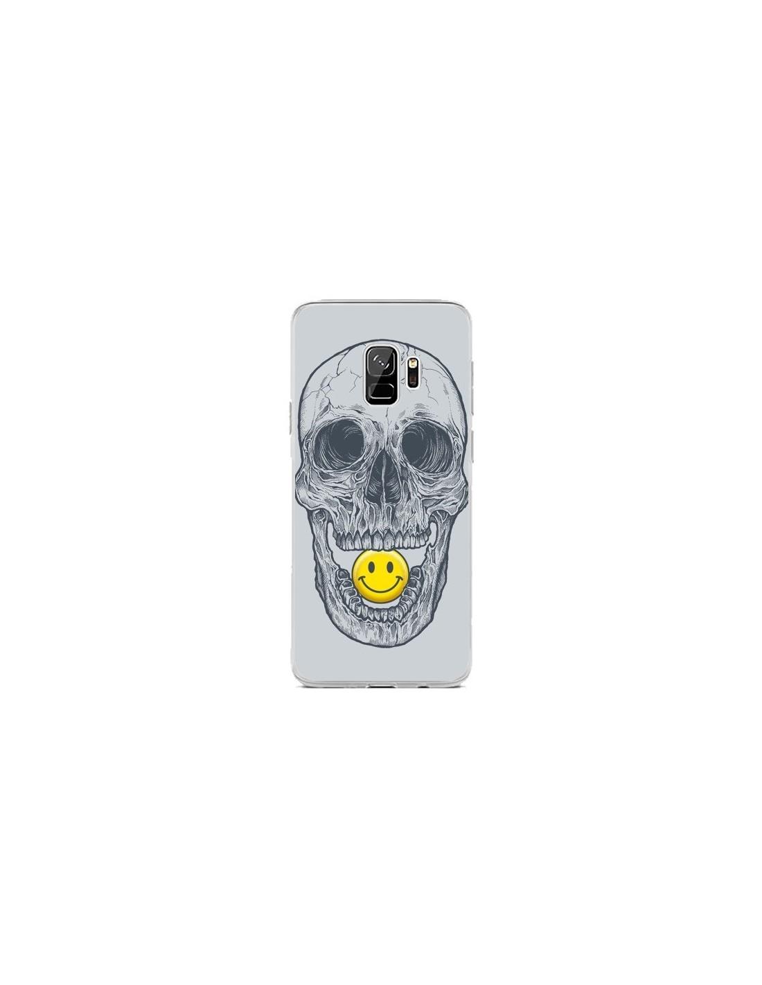 Coque Samsung S9 Smiley Face Tête de Mort - Rachel Caldwell