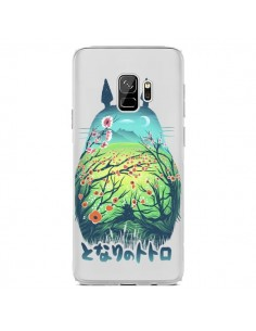 Coque Samsung S9 Totoro Manga Flower Transparente - Victor Vercesi