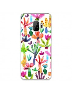 Coque Samsung S9 Overlapped Watercolor Dots - Ninola Design