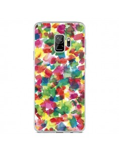 Coque Samsung S9 Speckled Watercolor Blue - Ninola Design