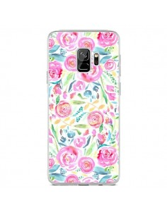 Coque Samsung S9 Speckled Watercolor Pink - Ninola Design