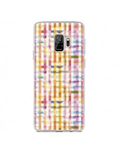 Coque Samsung S9 Vichy Black Yellow - Ninola Design