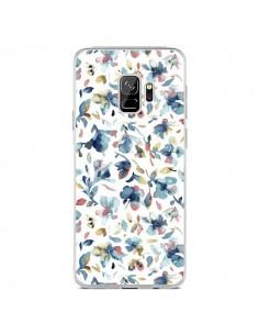 Coque Samsung S9 Watery Hibiscus Blue - Ninola Design