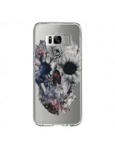 Coque Samsung S8 Floral Skull Tête de Mort Transparente - Ali Gulec