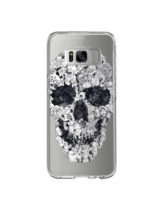 Coque Samsung S8 Doodle Skull Dessin Tête de Mort Transparente - Ali Gulec