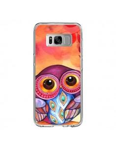 Coque Samsung S8 Chouette Feuilles Automne - Annya Kai