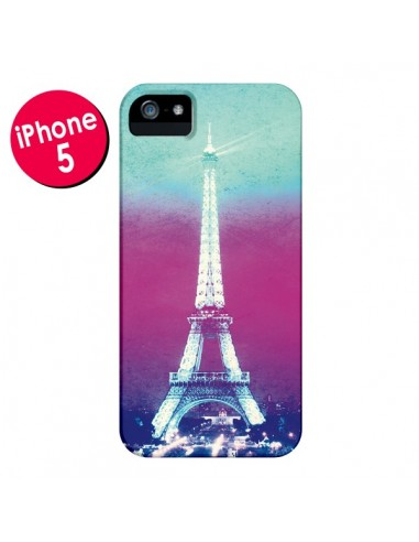 Coque Tour Eiffel Night pour iPhone 5 et 5S - Mary Nesrala