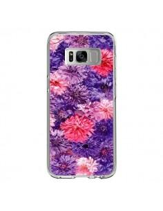 Coque Samsung S8 Fleurs Violettes Flower Storm - Asano Yamazaki