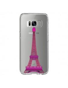 Coque Samsung S8 Tour Eiffel Rose Paris Transparente - Asano Yamazaki