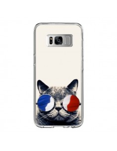 Coque Samsung S8 Chat à lunettes françaises - Gusto NYC
