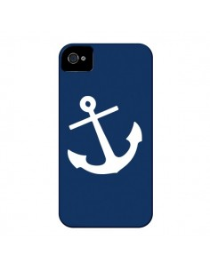Coque Ancre Navire Navy Blue Anchor pour iPhone 4 et 4S - Mary Nesrala