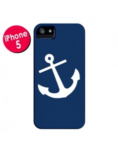 Coque Ancre Navire Navy Blue Anchor pour iPhone 5 et 5S - Mary Nesrala