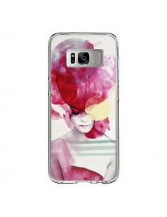 Coque Samsung S8 Bright Pink Portrait Femme - Jenny Liz Rome