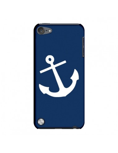 Coque Ancre Navire Navy Blue Anchor pour iPod Touch 5 - Mary Nesrala