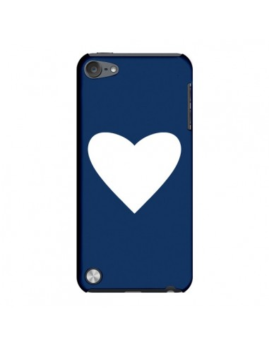 Coque Coeur Navy Blue Heart pour iPod Touch 5 - Mary Nesrala