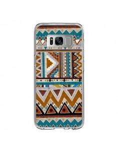 Coque Samsung S8 Azteque Vert Marron - Kris Tate