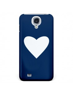 Coque Coeur Navy Blue Heart pour Galaxy S4 - Mary Nesrala