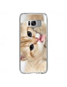 Coque Samsung S8 Chat Cat Tongue - Laetitia