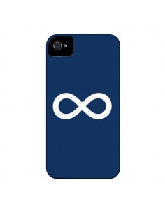 Coque Infini Navy Blue Infinity pour iPhone 4 et 4S - Mary Nesrala