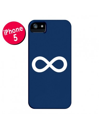 Coque Infini Navy Blue Infinity pour iPhone 5 et 5S - Mary Nesrala