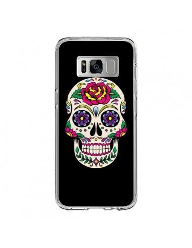 Coque Samsung S8 Tête de Mort Mexicaine Multicolore Noir - Laetitia