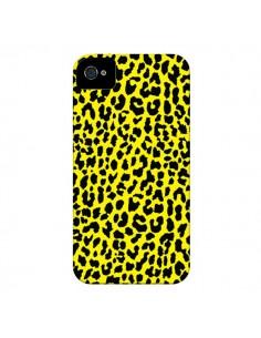 Coque Leopard Jaune pour iPhone 4 et 4S - Mary Nesrala
