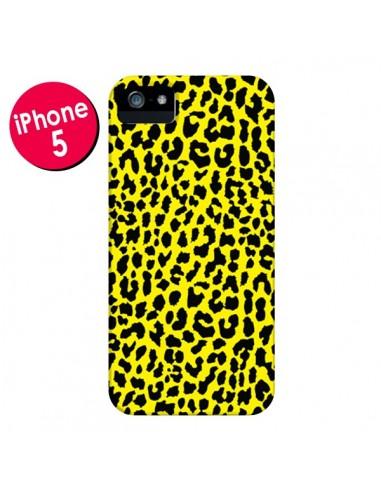 Coque Leopard Jaune pour iPhone 5 et 5S - Mary Nesrala