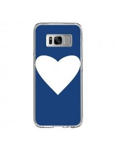 Coque Samsung S8 Coeur Navy Blue Heart - Mary Nesrala