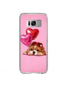 Coque Samsung S8 Chien Dog Lunettes Coeur Ballon - Maryline Cazenave