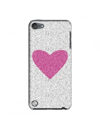 Coque Coeur Rose Argent Love pour iPod Touch 5 - Mary Nesrala