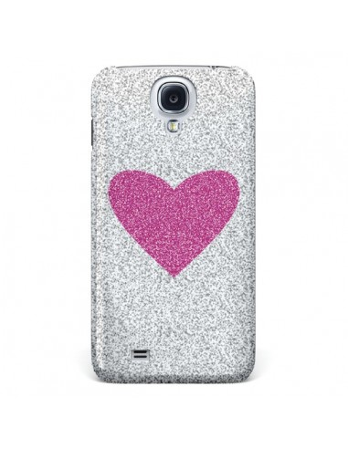 Coque Coeur Rose Argent Love pour Galaxy S4 - Mary Nesrala