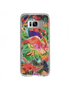 Coque Samsung S8 Tropical Flamant Rose - Monica Martinez