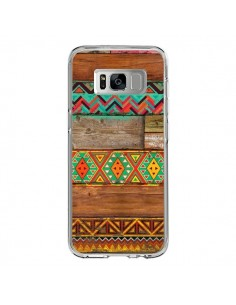 Coque Samsung S8 Indian Wood Bois Azteque - Maximilian San