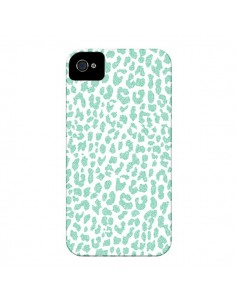 Coque Leopard Menthe Mint pour iPhone 4 et 4S - Mary Nesrala